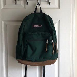 Forest Green Jansport Backpack
